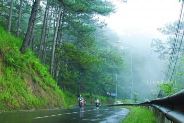 Mưa chiều phố núi Đà Lạt
