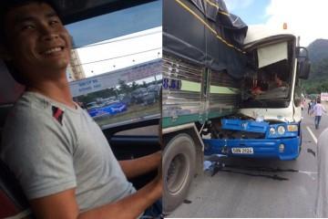 Tài xế xe tải 'dìu' xe khách mất thắng trên đèo: Tôi chỉ nghĩ phải cứu người