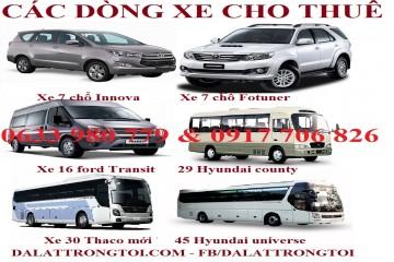Dịch vụ cho thuê xe ô tô tại Đà Lạt